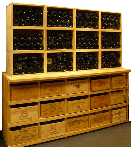 cave a vin en bois. Black Bedroom Furniture Sets. Home Design Ideas